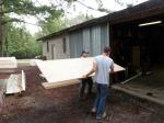 Unloading lumber