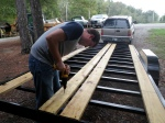 Drilling Bolt Holes in the Decking for Reinforcement