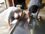 Aluminum Flashing on the Underside of the Floor Framing