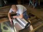 Cutting the Aluminum Flashing to Length