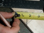 Measuring out the rafter notch