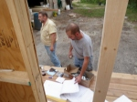 Mike and Eric arrive to assist with the Ridge Beam