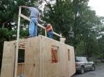 Hanging the 2x6 Ridge Beam