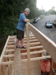 This walkway was key for installing the rafters along the 2x6 Ridge Beam