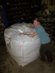 250 lbs of insulation makes for a BIG bag of wool!