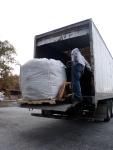 Wool arriving.