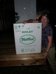 Our Biolet 10 Standard Composting Toilet arrives at the Tiny House!