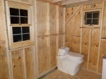 Our composting toilet set in its place!
