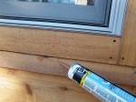 Wrapping up the last of the caulking project...
