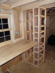 Pantry ready for shelving and knotty pine sides!