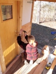Making quick work of the cedar siding!
