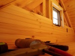 Gable knotty pine going up quickly!