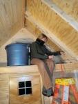 Beginning the storage loft corner...