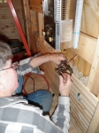 Creating the flare fitting for the furnace hookup.
