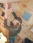Finishing up the pantry/shelves.