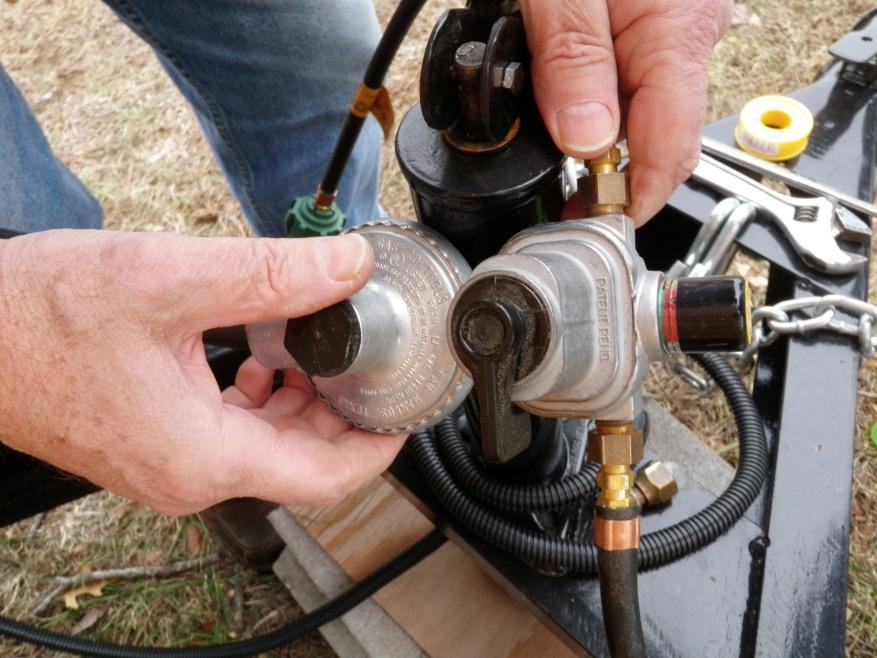 Low pressure RV propane regulator purchased at Kamper's