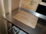 Test fitting a countertop.