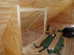 Loft closet framing.
