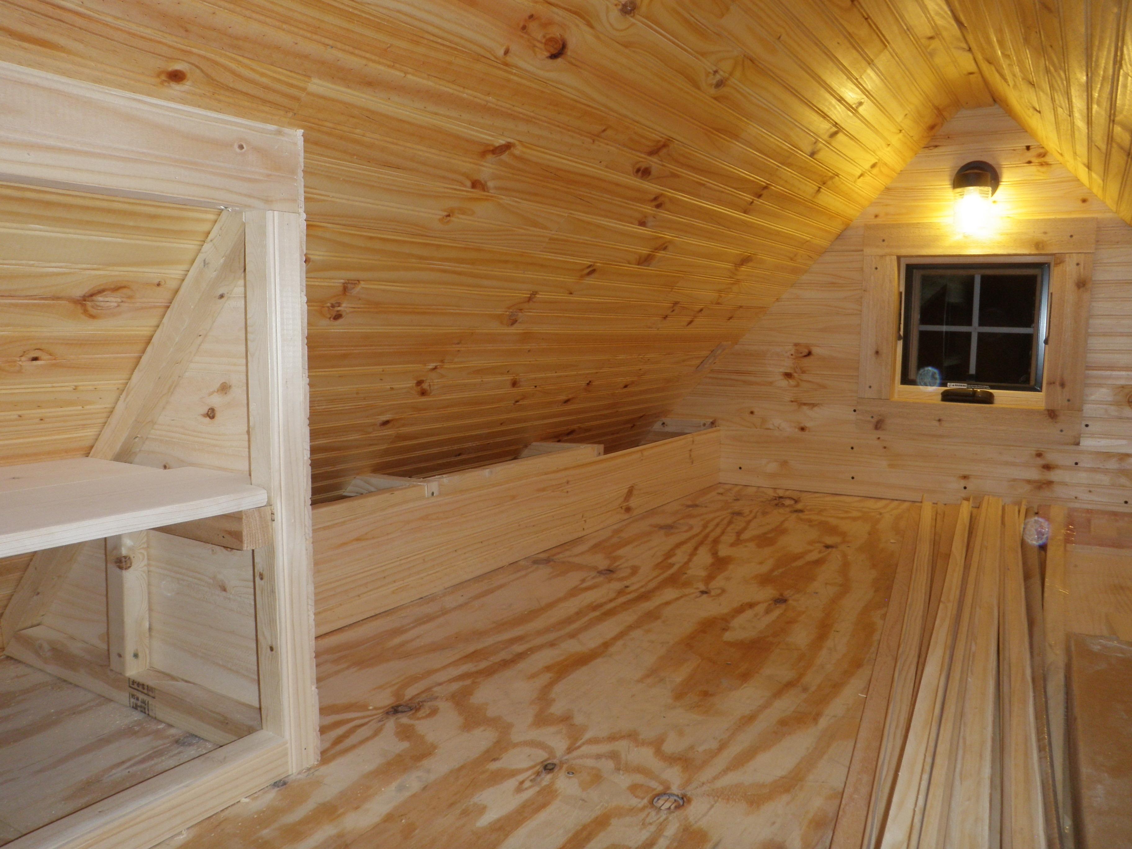 Sleeping Loft Taking Shape Built By Friends Evan