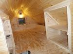 Loft storage 'closets'.
