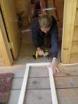 Framing a closet door with 1X2's.