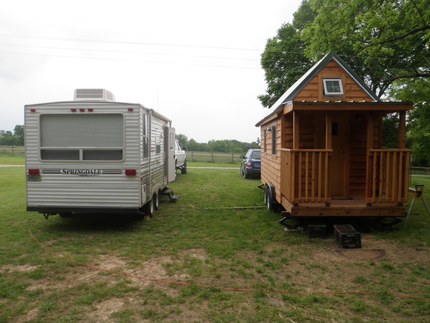 Side-by-side comparison of a similarly sized camper.
