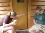 Coffee on the porch.  :)