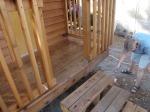 Re-sealing the cedar deck.