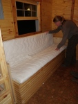 First fitting of couch mattress!