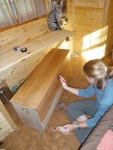 Finishing with Tung Oil.