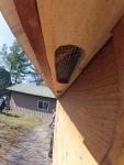 Cedar soffeting in place!
